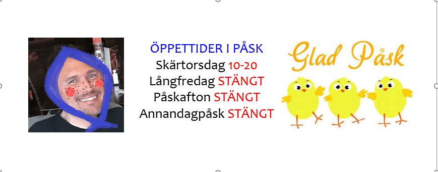 ÖPPETTIDER PÅSK