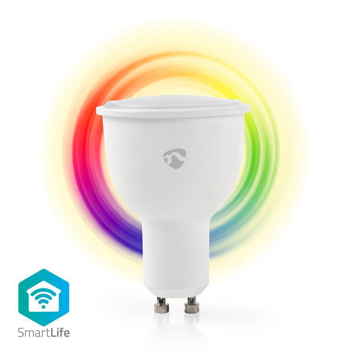 WiFi Smart LED-lampa | Fullfärg och varmvitt | GU10