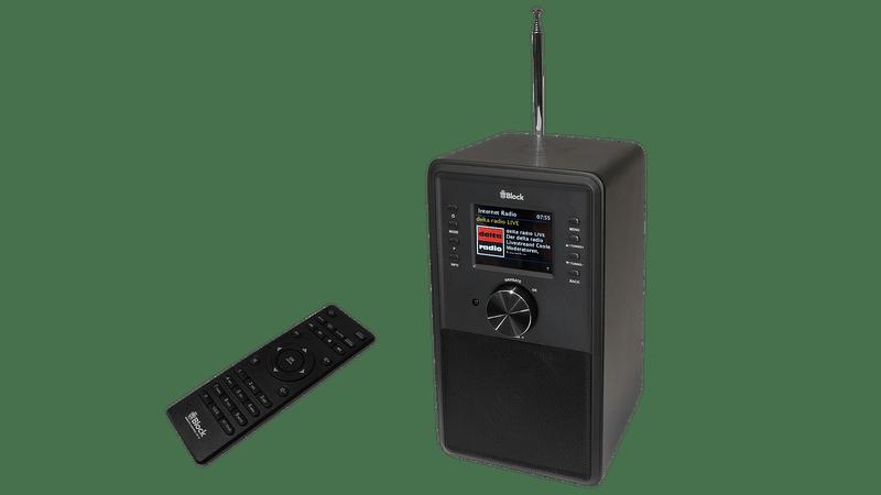 BLOCK CR-10 SVART INTERNETRADIO MED MULTIROOM FUNKTION