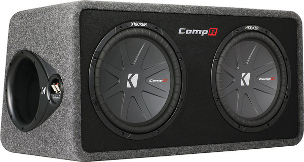 KICKER Dual Vented Box, 2 x CompR12